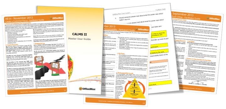 Printed Instructional Materials include facilitator and participant guides, job aids, reference guides, etc.