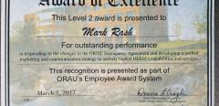 ORAU Award of Excellence